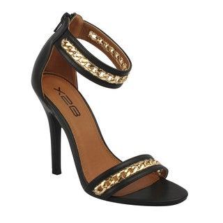 X2B Women's 'Blair-2' Chain Strap Stiletto Heel Sandals