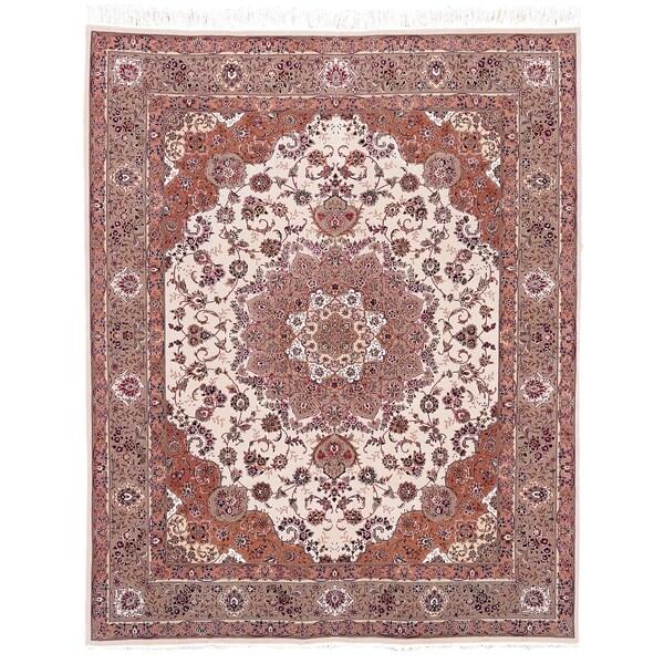 Safavieh Hand-knotted Tabriz Floral Multi Wool/ Silk Rug - 8' x 10'