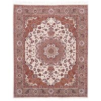 Safavieh Hand-knotted Tabriz Floral Multi Wool/ Silk Rug - 8' x 10'