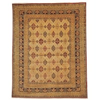 Safavieh Hand-knotted Lavar Ivory/ Navy Wool Rug - 8' x 10'