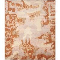 Safavieh Hand-knotted Santa Fe Modern Abstract Rust/ Multi Wool Rug - 9' x 12'