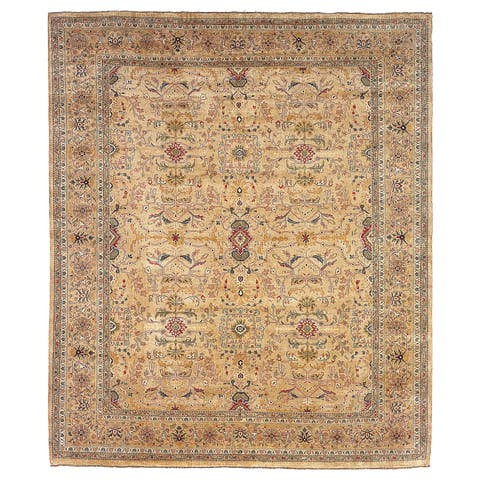 Safavieh Couture Hand-knotted Farahan Sarouk Davina Traditional Oriental Wool Rug with Fringe