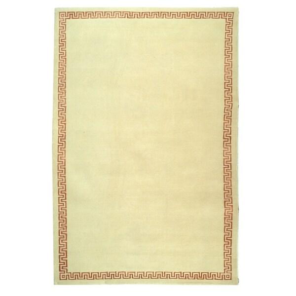 Safavieh Hand-knotted Suzanne Kasler Cream/ Rose Wool/ Silk Rug - 9' x 12'