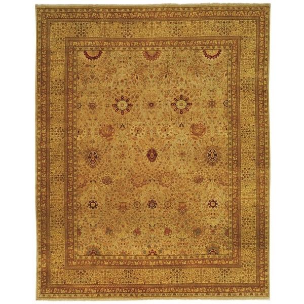Safavieh Hand-knotted Lavar Slate/ Ivory Wool Rug (8' x 10')