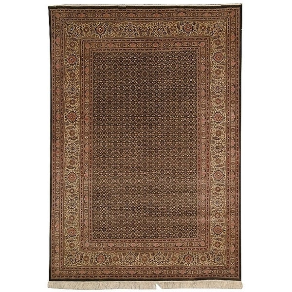 Safavieh Hand-knotted Tabriz Herati Light Green/ Beige Wool/ Silk Rug - 8' x 10'