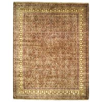 Safavieh Hand-knotted Ganges River Lilac/ Light Green Wool Rug - 9' x 12'
