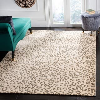 Safavieh Hand-knotted Suzanne Kasler Cream/ Deep Taupe Wool/ Silk Rug (9' x 12')|https://ak1.ostkcdn.com/images/products/8860296/P16087600.jpg?impolicy=medium