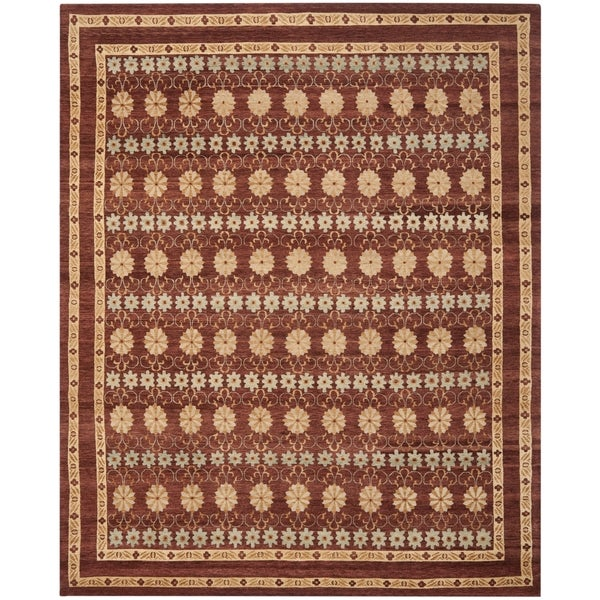 Safavieh Hand-knotted Marrakech Brown/ Light Blue Wool Rug - 8' x 10'