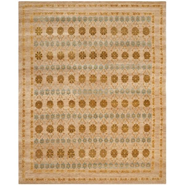 Safavieh Hand-knotted Marrakech Gold/ Light Blue Wool Rug - 8' x 10'