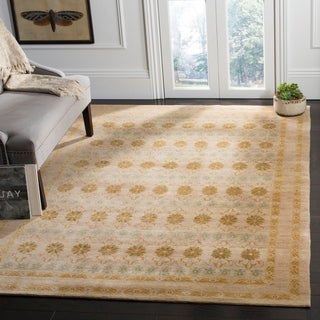 Safavieh Hand-knotted Marrakech Gold/ Light Blue Wool Rug (8' x 10')