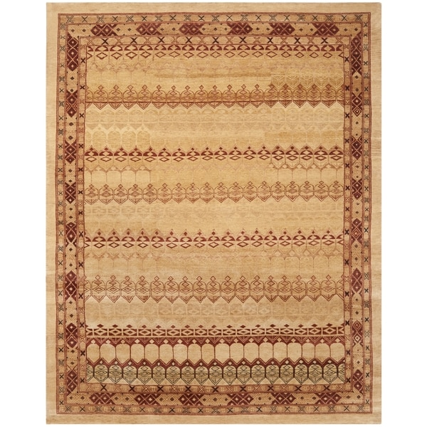 Safavieh Hand-knotted Marrakech Ivory/ Rose Wool Rug - 8' x 10'
