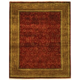 Safavieh Hand-knotted Ganges River Rust/ Green Wool Rug (5' x 7')