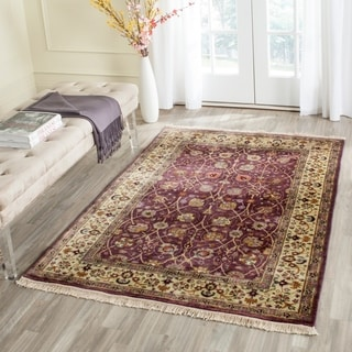 Safavieh Hand-knotted Ganges River Purple/ Light Green Wool Rug (5' x 7')