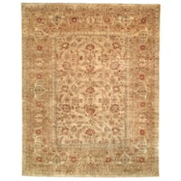 Safavieh Hand-knotted Farahan Sarouk Ivory/ Gold Wool Rug - 6' x 9'