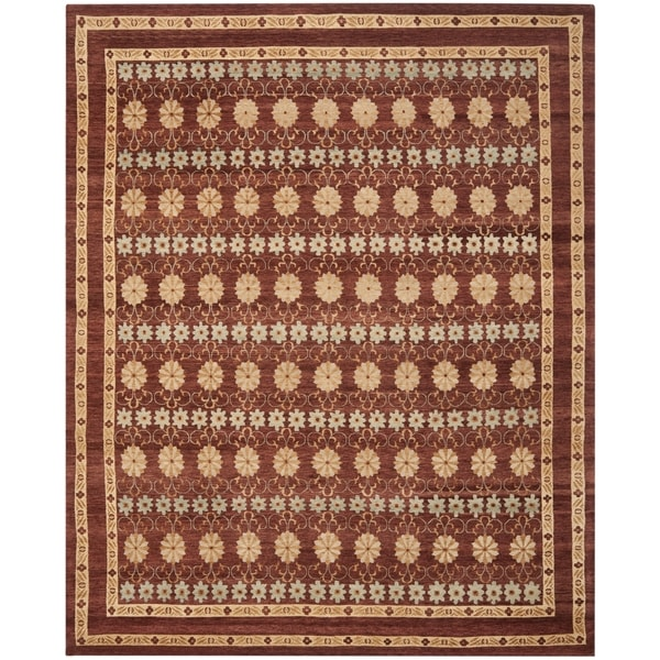 Safavieh Hand-knotted Marrakech Brown/ Light Blue Wool Rug (6' x 9')