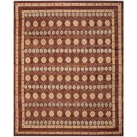 Safavieh Hand-knotted Marrakech Brown/ Light Blue Wool Rug - 6' x 9'