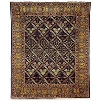 Safavieh Hand-knotted Peshawar Vegetable Dye Navy/ Gold Wool Rug - 6' x 9'