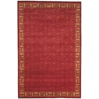 Safavieh Hand-knotted Nepalese Red/ Beige Wool/ Silk Rug - 6' x 9'