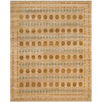 Safavieh Hand-knotted Marrakech Gold/ Light Blue Wool Rug - 6' x 9'