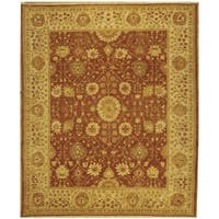 Safavieh Hand-knotted Peshawar Vegetable Dye Rust/ Lemon Wool Rug - 6' x 9'