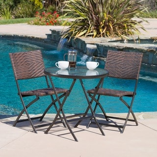 Link to El Paso Outdoor 3-piece Multi-brown Folding Set by Christopher Knight Home Similar Items in Patio Furniture