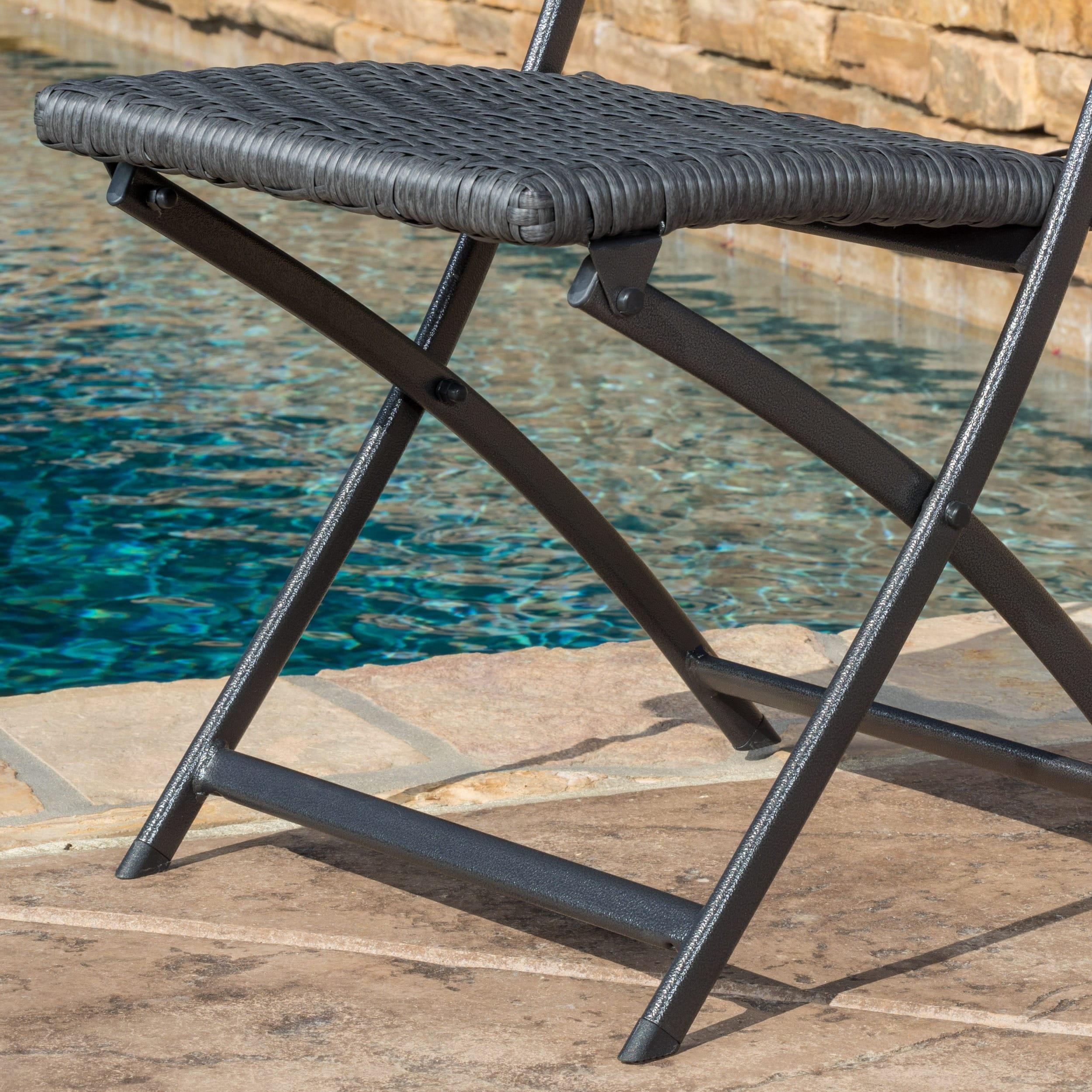 El Paso Outdoor 3-piece Multi-brown Folding Set by Christ...