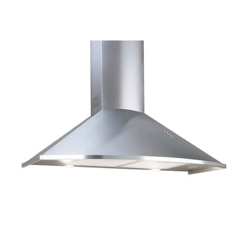 Equator Deco Trapezoidal Series 30-inch Stainless Steel Ducted Wall Mounted Range Hood