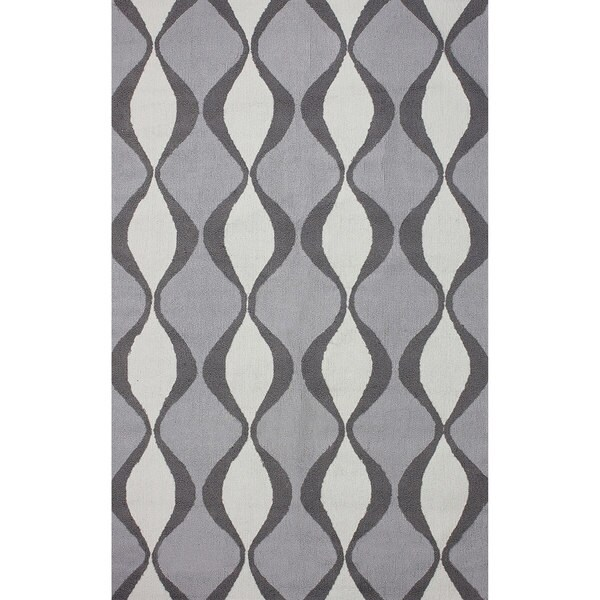 nuLOOM Hand-hooked Indoor/ Outdoor Trellis Grey  Rug (7' 6 x 9' 6)