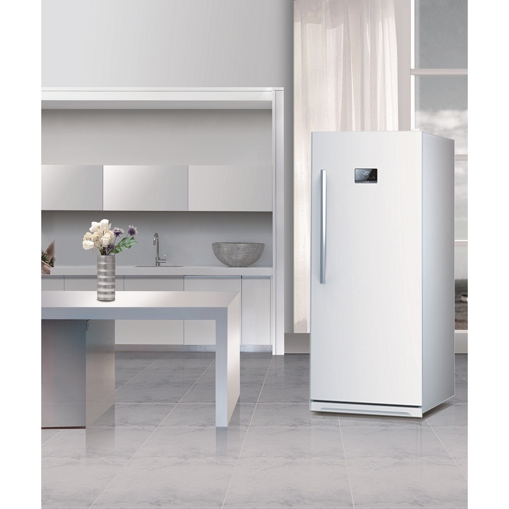 Equator-Midea White Upright Freezer (White) (Plastic)
