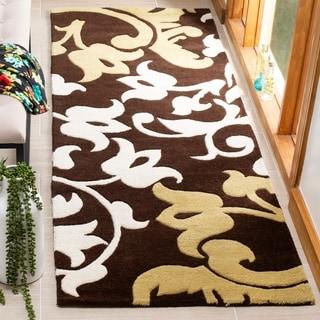 Safavieh Handmade Soho Brown New Zealand Wool/ Viscose Rug (2'6 x 6')