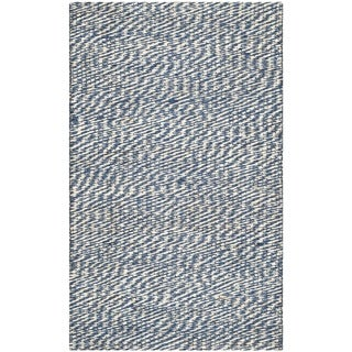 Safavieh Casual Natural Fiber Hand-Woven Doubleweave Blue/ Ivory Jute Rug (2'6 x 4')