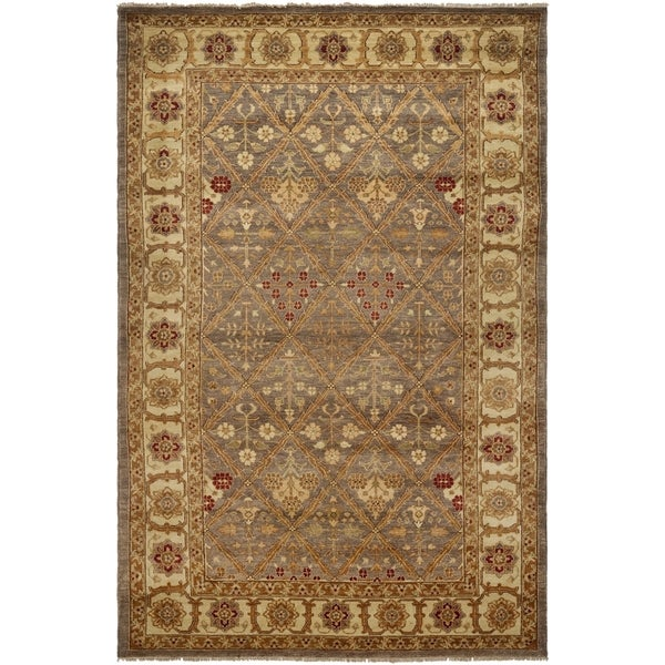 Safavieh Hand-knotted Samarkand Light Green/ Ivory Wool Rug (8' x 10')