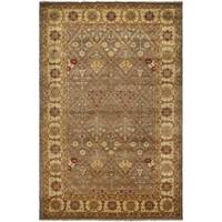 Safavieh Hand-knotted Samarkand Light Green/ Ivory Wool Rug - 8' x 10'