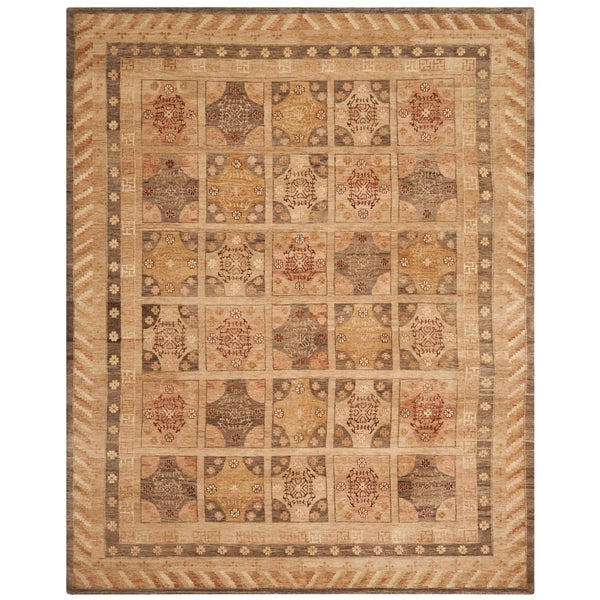 Safavieh Hand-knotted Marrakech Gold/ Tan Wool Rug - 10' x 14'