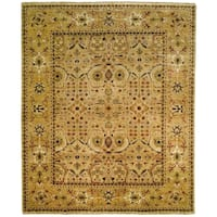 Safavieh Hand-knotted Farahan Sarouk Ivory/ Gold Wool Rug - 8' x 10'