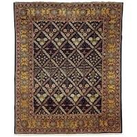 Safavieh Hand-knotted Peshawar Vegetable Dye Navy/ Gold Wool Rug - 9' x 12'