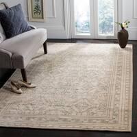 Safavieh Hand-knotted Suzanne Kasler Sky Blue/ Cream Wool/ Silk Rug - 8' x 10'