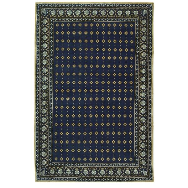 Safavieh Hand-knotted Suzanne Kasler Indigo Wool/ Silk Rug - 8' x 10'