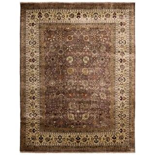Safavieh Hand-knotted Ganges River Purple/ Light Green Wool Rug (8' x 10')