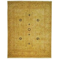 Safavieh Hand-knotted Peshawar Vegetable Dye Ivory/ Ivory Wool Rug - 9' x 12'