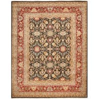 Safavieh Hand-knotted Samarkand Green/ Red Wool Rug - 9' x 12'