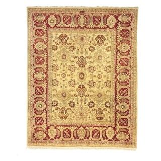 Safavieh Hand-knotted Peshawar Vegetable Dye Ivory/ Red Wool Rug (12' x 18')