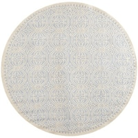 Safavieh Handmade Cambridge Moroccan Light Blue/ Ivory Rug (10' Round)