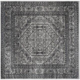 Safavieh Adirondack Vintage Silver/ Black Rug - 6' Square