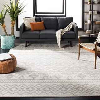 Safavieh Adirondack Ivory/ Silver Rug (6' Square)