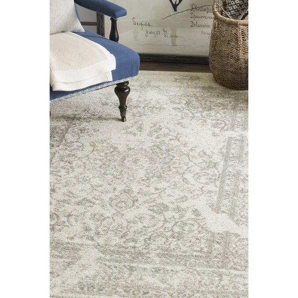 Nice Safavieh Adirondack Vintage Distressed Ivory / Silver Rug (6u0027 Square)    Free Shipping Today   Overstock.com   16088541