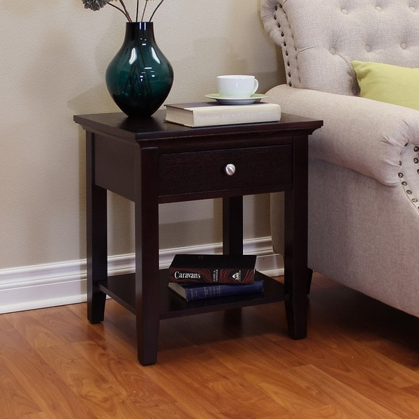 Shop Ferndale Espresso End Table On Sale Free Shipping Today