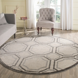 Safavieh Amherst Ivory/ Light Grey Rug (7' Round)