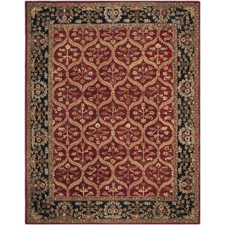 Safavieh Handmade Anatolia Red/ Navy Wool Rug (9'6 x 13'6)
