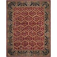 Safavieh Handmade Anatolia Oriental Red/ Navy Hand-spun Wool Rug - 9'6 x 13'6